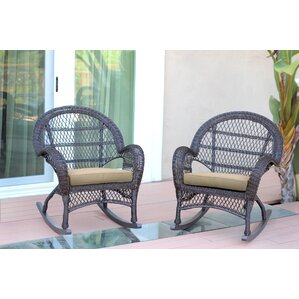 berchmans wicker rocker chair with cushions set of 2