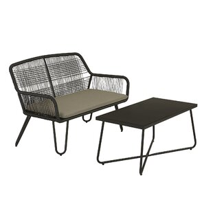 Marli 2 Piece Rattan Sofa Seating Group with Cushions