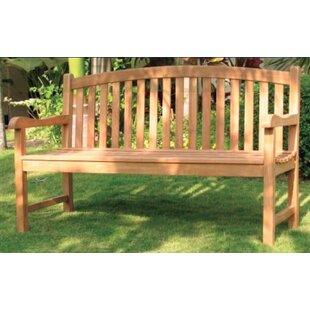 Senecal Teak Garden Bench by Highland Dunes
