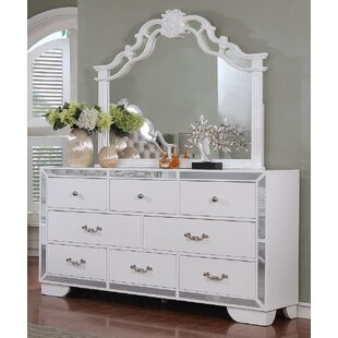 Rosdorf Park Bilboro 8 Drawer Dresser with Mirror