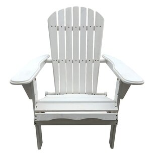 Cuyler Solid Wood Folding Adirondack Chair by Beachcrest Home