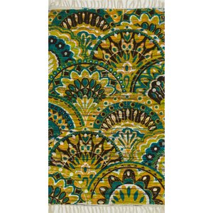 Aria Peacock/Yellow Area Rug