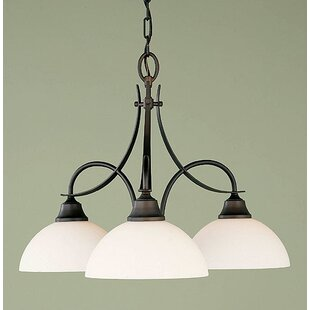 Zetland 3-Light Shaded Chandelier by Charlton Home