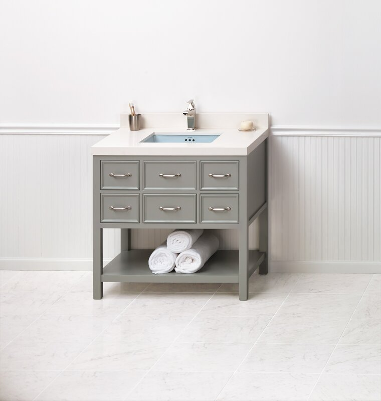 "ronbow newcastle 36"" single bathroom vanity set | wayfair"