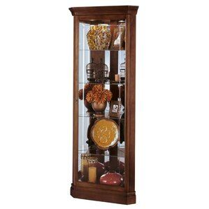 Lynwood Lighted Corner Curio Cabinet by H..