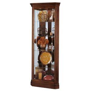 Lynwood Lighted Corner Curio Cabinet by Howard Miller®