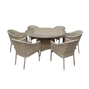 Dakota 6 Seater Dining Set With Cushions By Hokku Designs