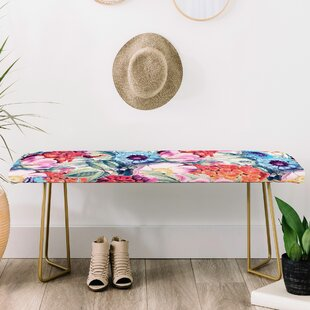 East Urban Home 83 Oranges Faux Leather Bench
