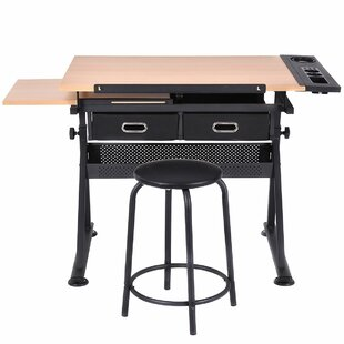 Symple Stuff Lagrone Drafting Table and C..