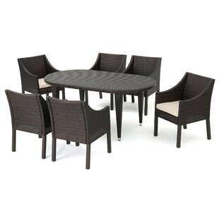 Mercury Row Duong Outdoor 7 Piece Dining Set with Cushions