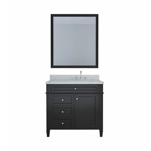 Nob Hill 36 Single Bathroom Vanity Set with Mirror By Charlton Home