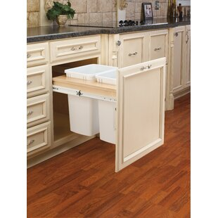 Rev-A-Shelf Double Top Mount 8.75 Gallon Pull Out/Under Counter Pull Out/Under Counter Trash Can