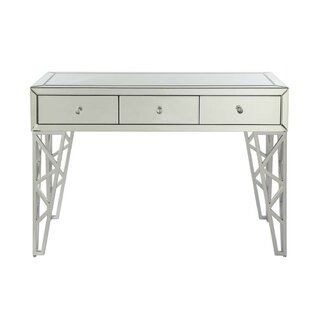 Perley Rectangular 3 Drawer Console Table by Everly Quinn