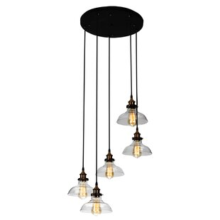 Betsy Industrial 5-Light Cluster Pendant by Longshore Tides