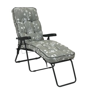2cc277cf9f79 Arcene Reclining Sun Lounger with Cushion