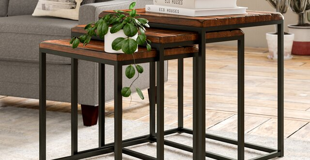 Industrial End Side Tables Free Shipping Over 35 Wayfair