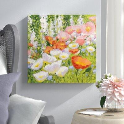 "'Garden Pastels II' Painting Print on Canvas Lark Manor Size: 18"" H x 18"" W x 0.75"" D"