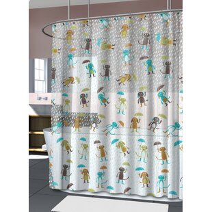 Marcy Raining Cats and Dogs Shower Curtain by Zoomie Kids