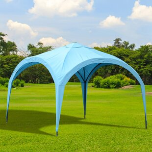 Portable Dome 10 Ft. W x 10 Ft. D Metal Pop-Up Canopy by Outsunny