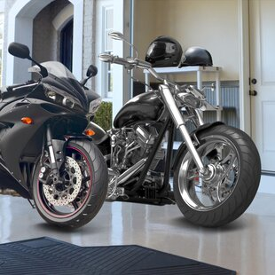 NCAA Motorcycle 42 ft. x 0.25 ft. Garage Flooring Roll in Black ByFANMATS