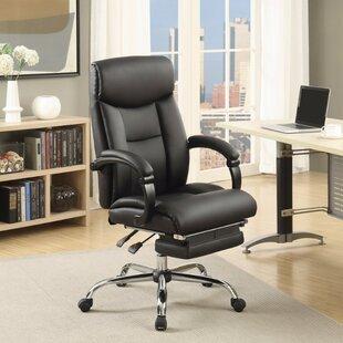 Ebern Designs Calarco High-Back Leather E..