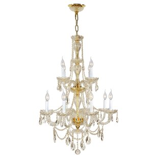 Astoria Grand Doggett 12-Light Chain Candle Style Chandelier