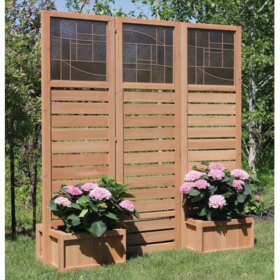 langdon privacy screen with planters - Patio Privacy Screen