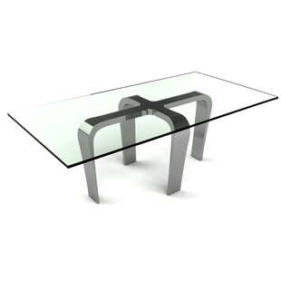Francisca Rectangular Metal Dining Table by Orren Ellis
