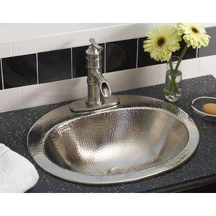 Sinkology Dalton Metal Oval Undermount Bathroom Sink with Overflow