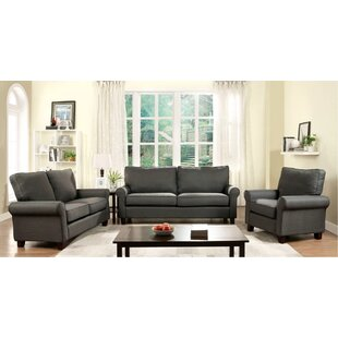 Darby Home Co Alanis 3 Piece Living Room ..