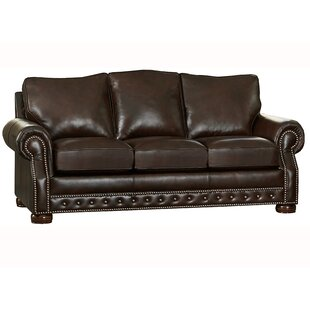 Pelaez Leather Sofa