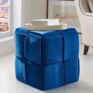 Ebern Designs Cutler Cube Ottoman