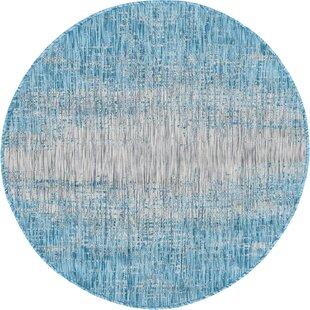 Datto Blue/Gray Indoor/Outdoor Area Rug by Wrought Studio