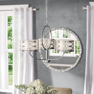 Affordable Price Helina 3-Light Shaded Chandelier By Willa Arlo Interiors