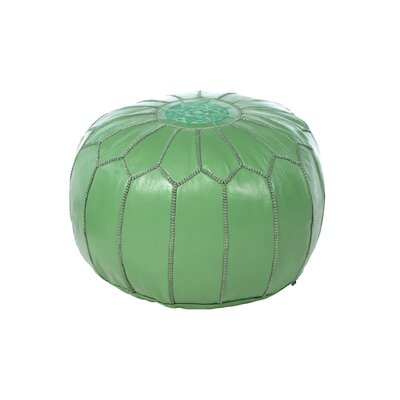 Lob Design Pouf.Mistana Carolos Leather Pouf Upholstery Color Green