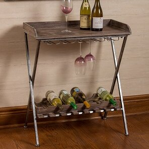 Hoylake 6 Bottle Floor Wine Rack by House..