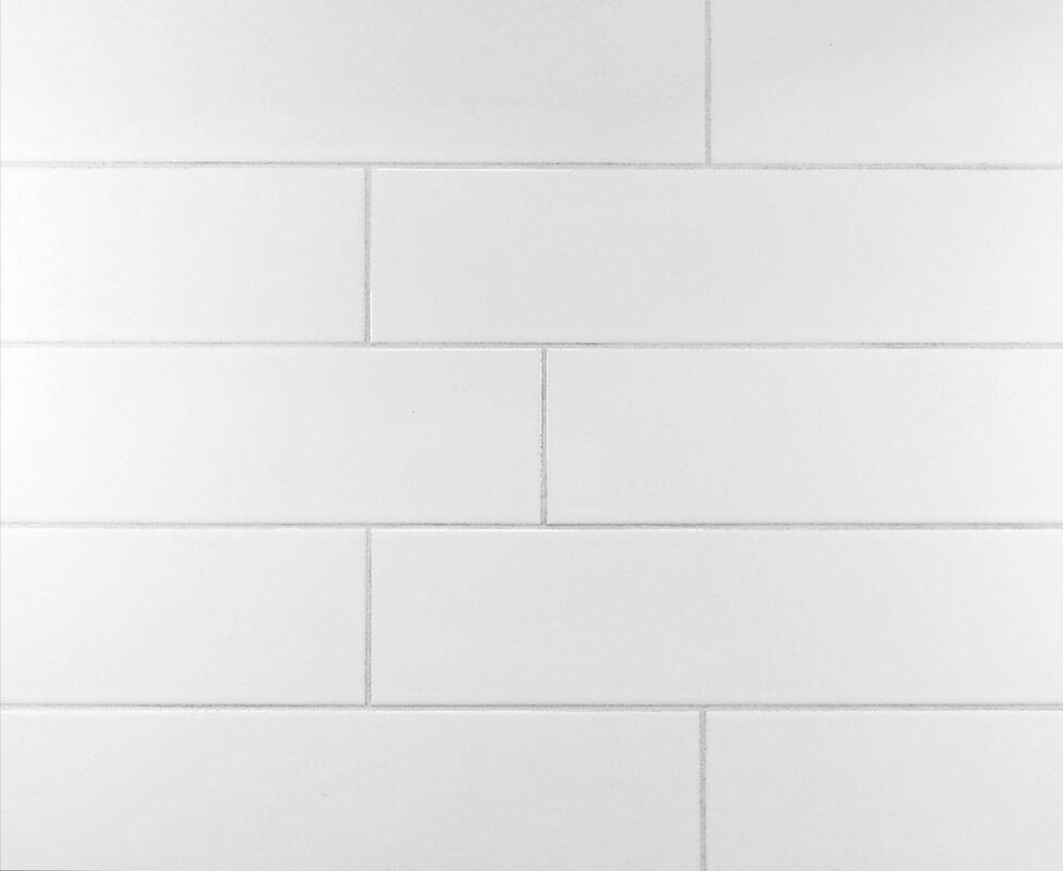 Clic 4 X 16 Ceramic Subway Tile In Cool White
