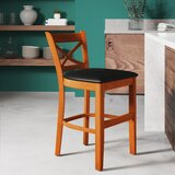 Helsley Cross Back Bar & Counter Stool by August Grove®