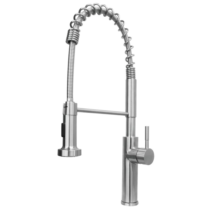 commercial grade kitchen faucets valley acrylic ltd chef commercial grade pull down single handle kitchen faucet wayfair 3186