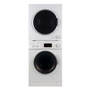 High Efficiency 1.6 cu. ft.  Washer and 3.5 cu. ft Electric Dryer Laundry Center