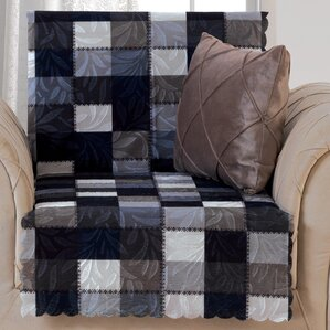 Pet Protector Checkered Box Cushion Armchair Slipcover by Red Barrel Studio
