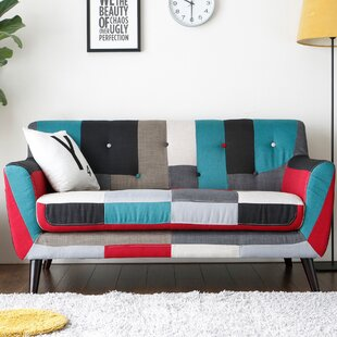 Gerold Checkered Loveseat