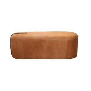 Nilsa Leather Pouf by Union Rustic