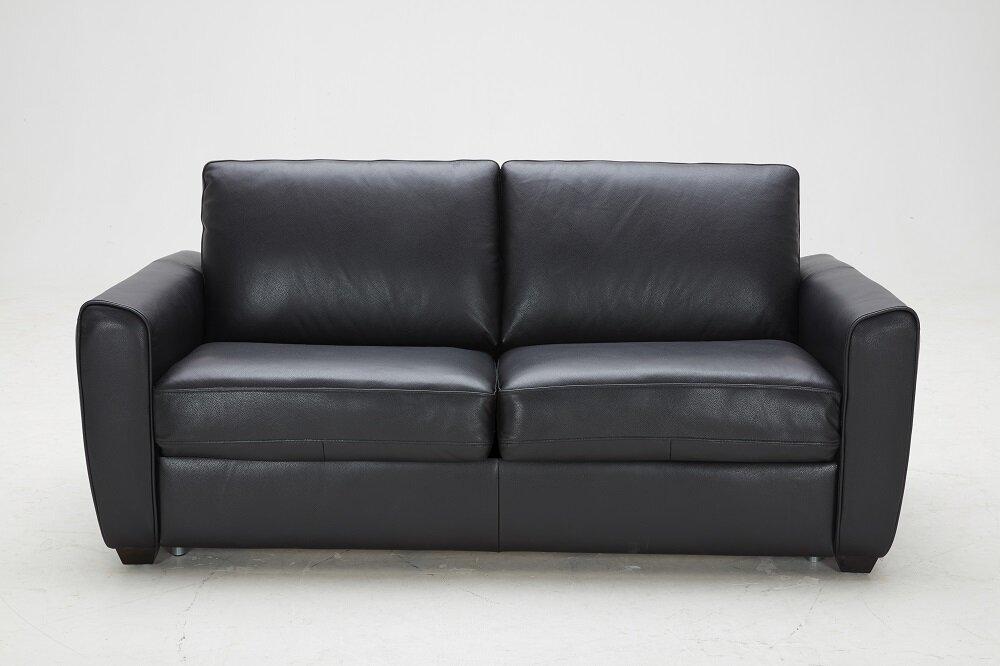 Ju0026M Furniture Ventura Leather Sleeper Sofa | Wayfair
