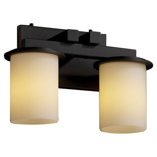 Reviews Luzerne 2-Light Vanity Light By Brayden Studio