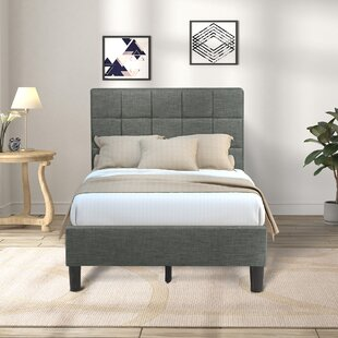 Nyles Upholstered Low Profile Platform Bed by Wrought Studio