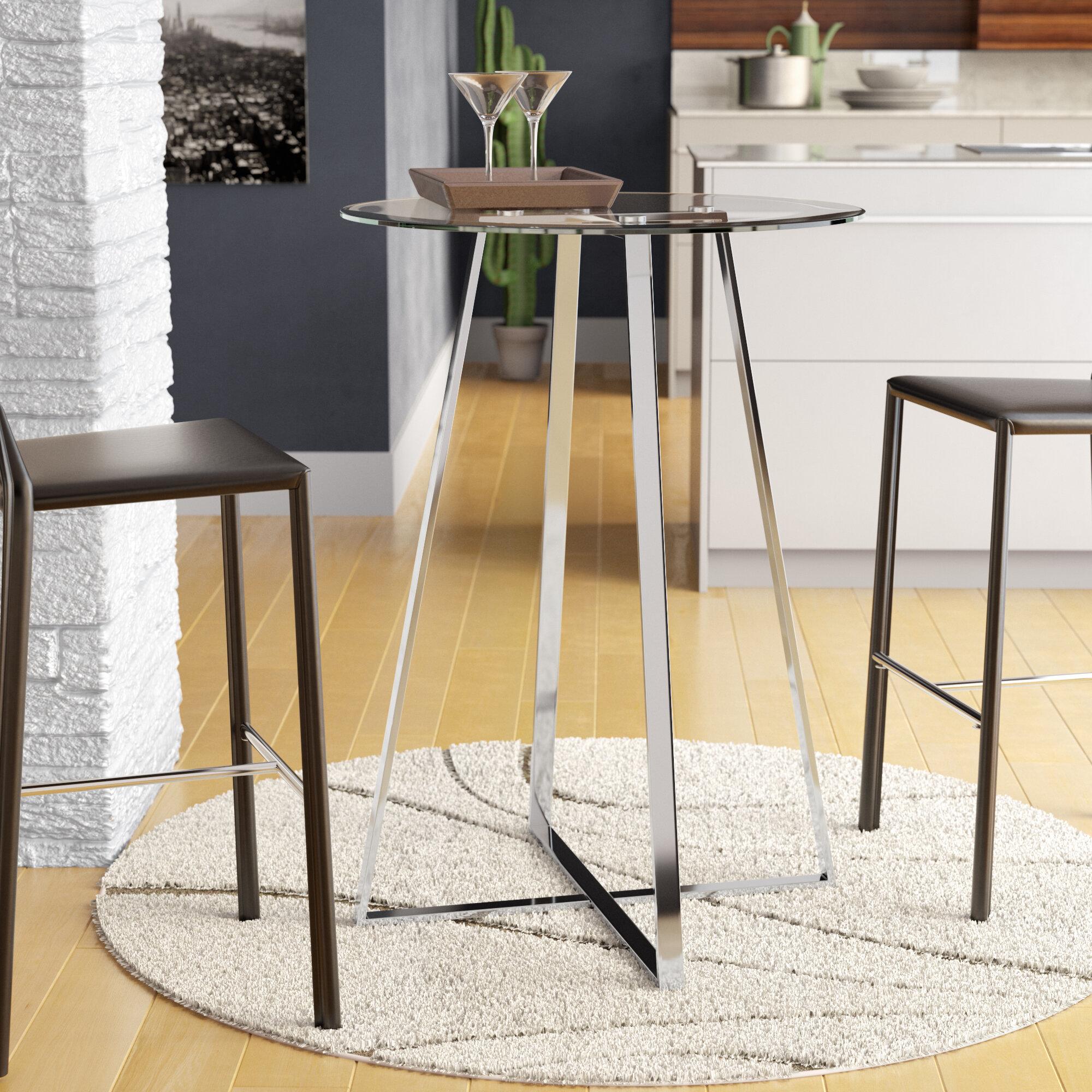 Wrought Studio Armgart Bar Height Dining Table Reviews Wayfair