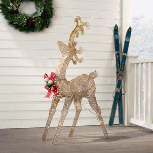 "NEW Cute Santa /& Reindeer Set 21/"" Standing Christmas Decoration Ornament Set 163"