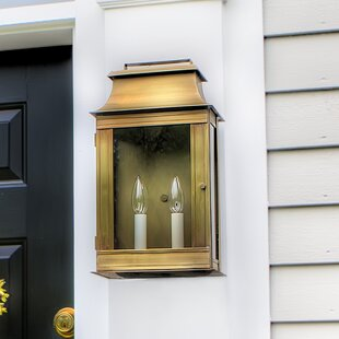 Prescot 1-Light Outdoor Flush Mount by Darby Home Co
