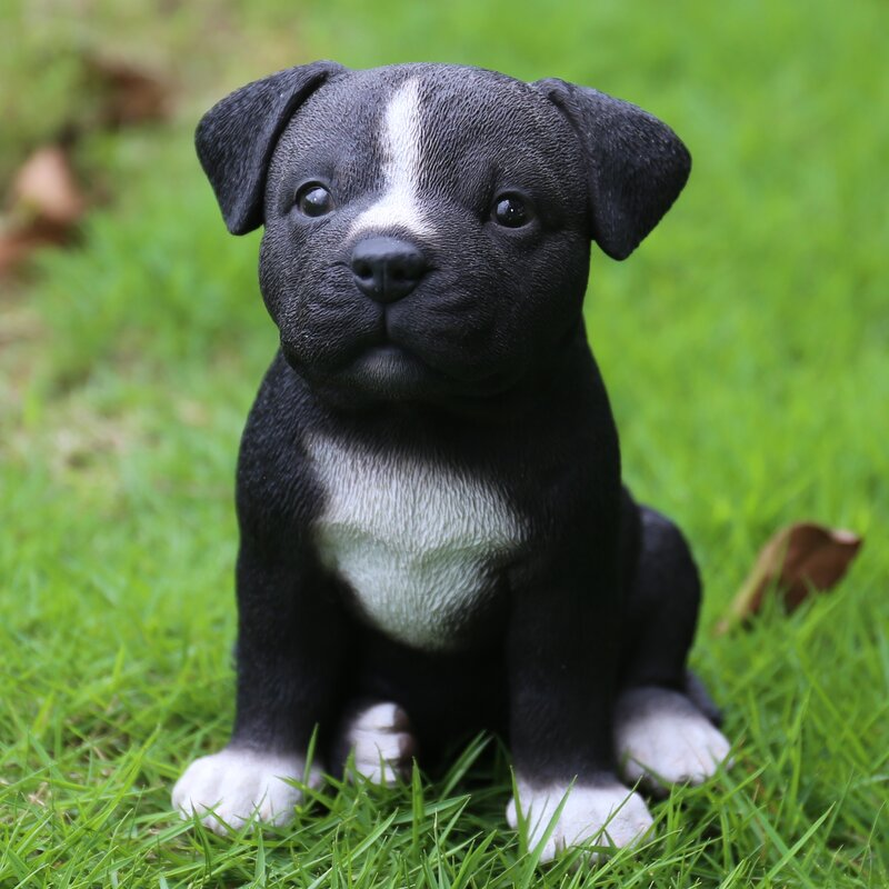 Hi-Line Gift Ltd. Sitting Staffordshire Pitbull Puppy ...